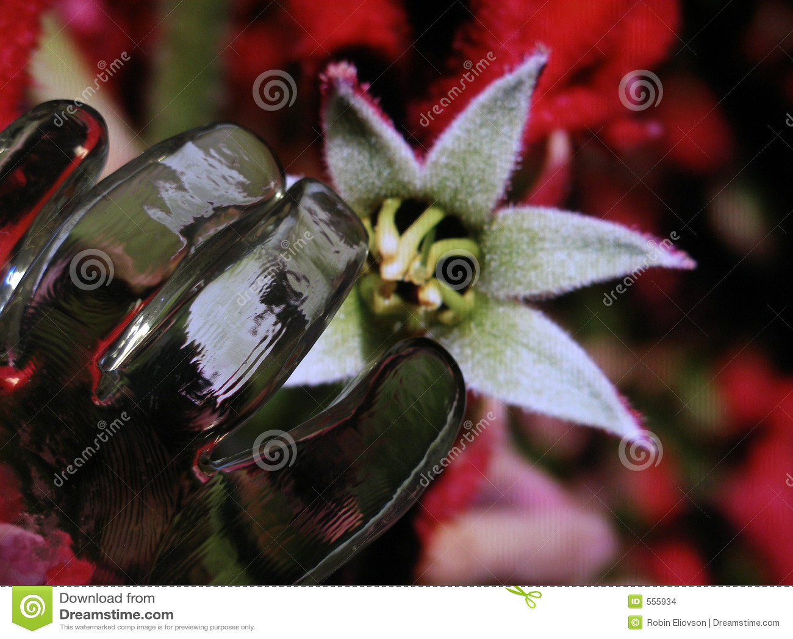 Glashandweiche Blumen-Spezialeffekte