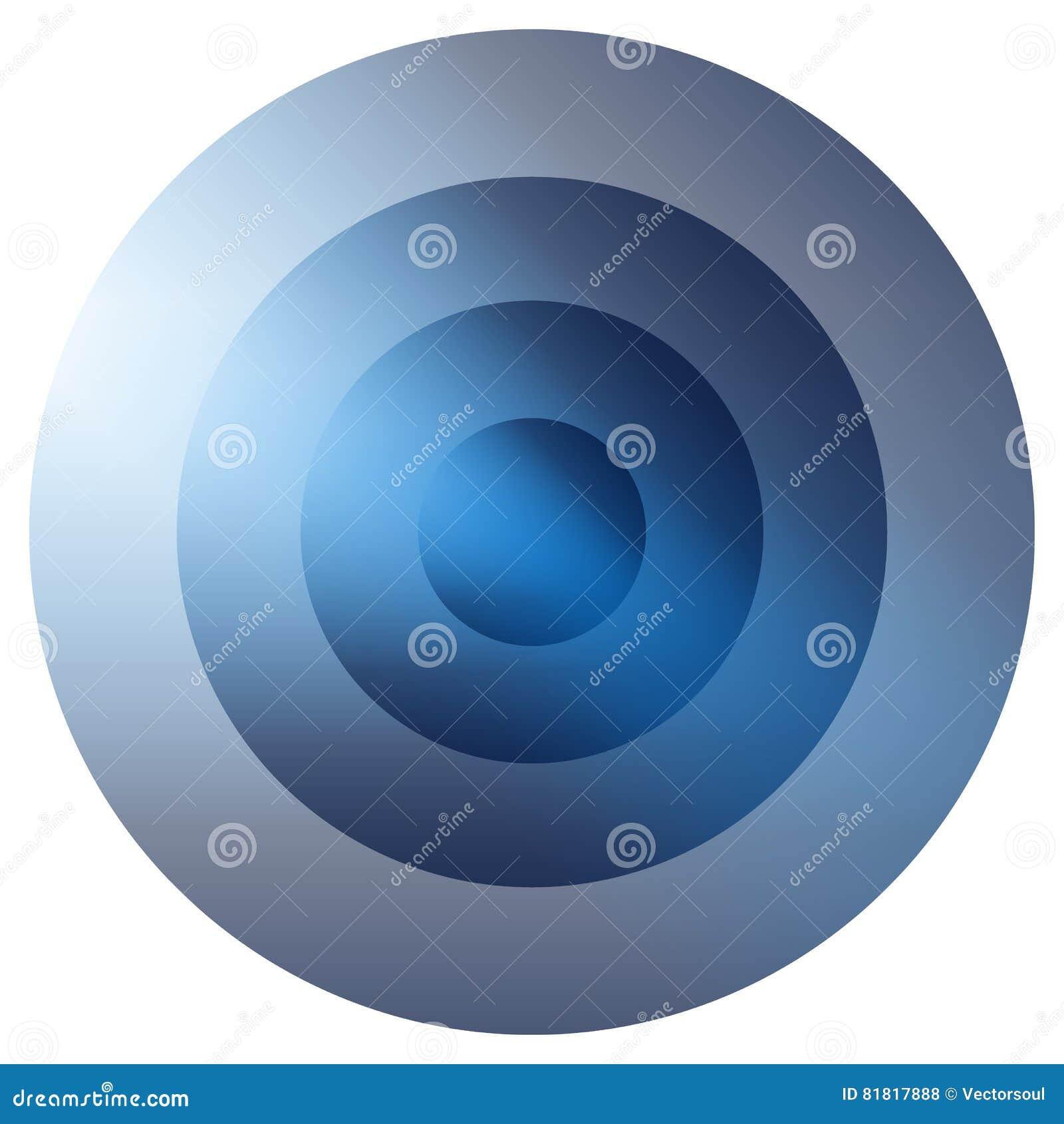 Glasiges buntes Ausstrahlen, Element der konzentrischen Kreise Glühendes b