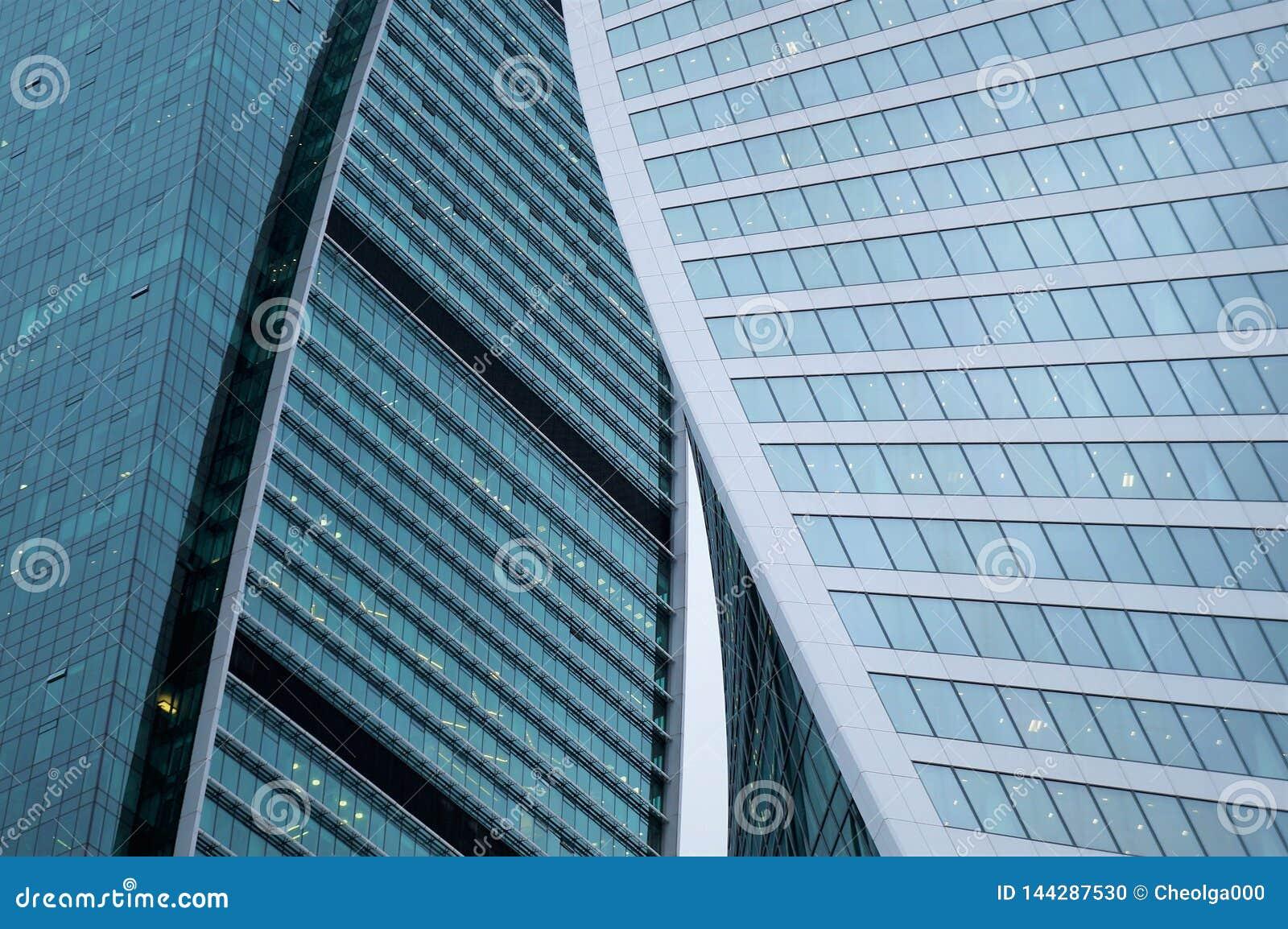 Glasmuur van het commerciële centrumgebouw