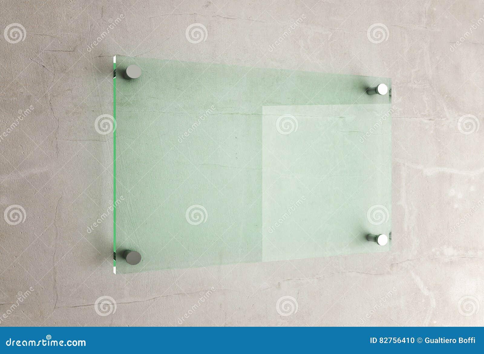 Glasplaat Voor Aan De Muur.Glasplaat Op Muur Stock Illustratie Illustratie Bestaande