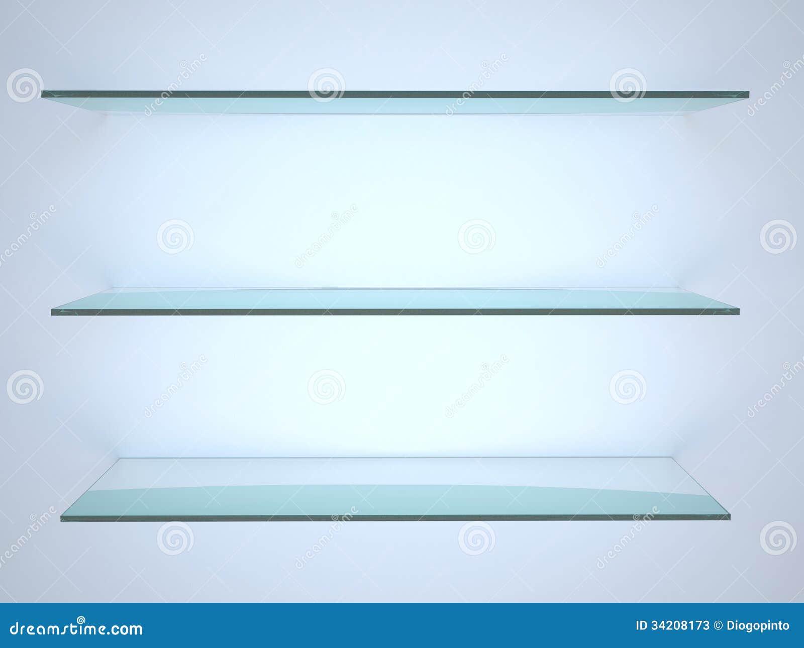 glasregal stockbild bild von platz haupt leer m bel 34208173. Black Bedroom Furniture Sets. Home Design Ideas
