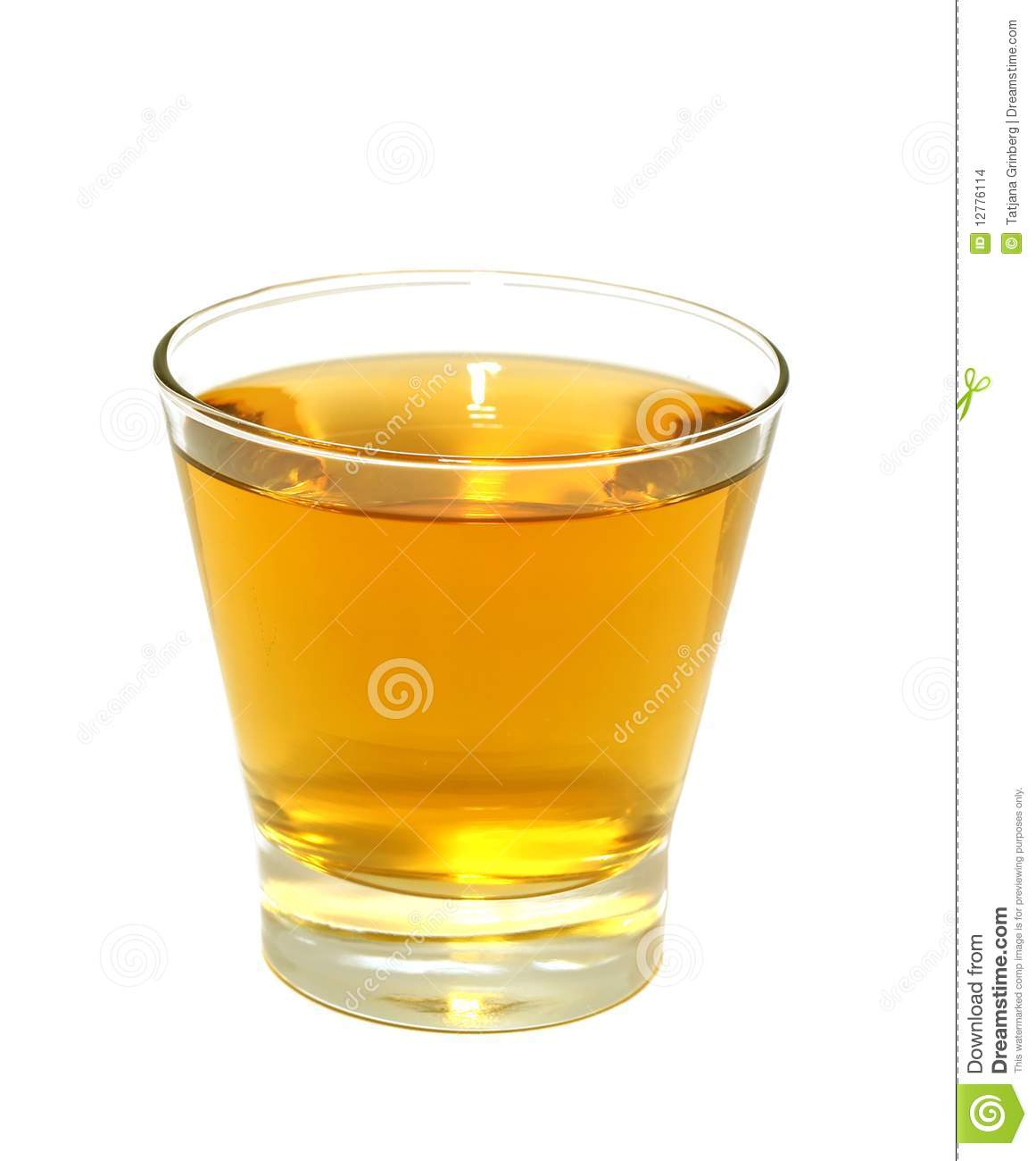 Glass Of Apple Juice Isolated On White Stock Images ...