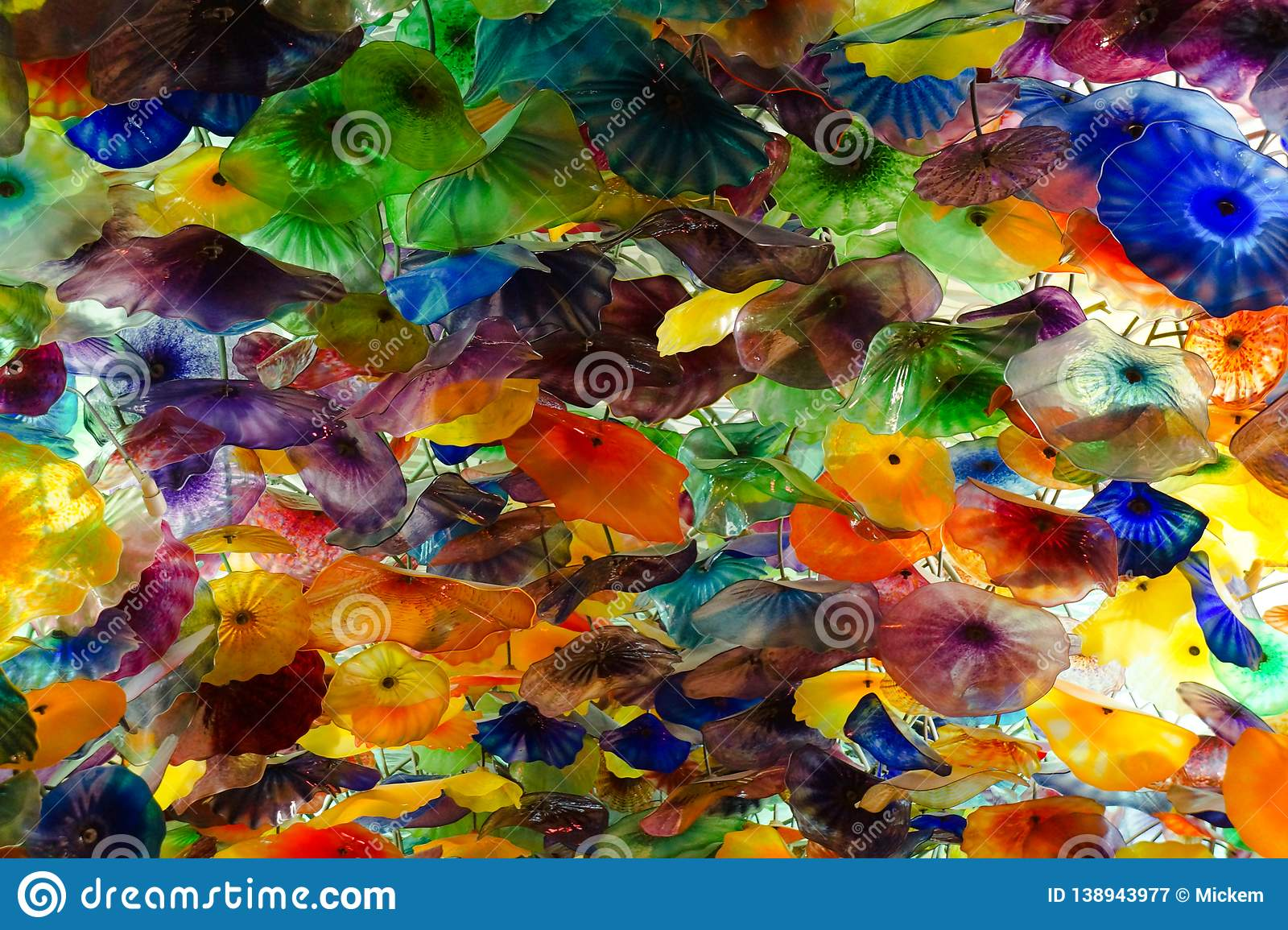 Chihuly Glass Ceiling Art Display Editorial Photography