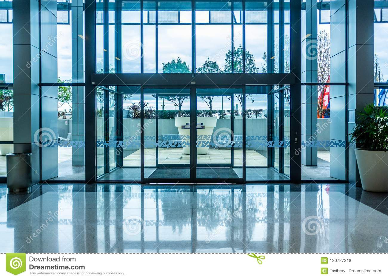 Glass Automatic Sliding Doors Entrance Stock Photo Image Of