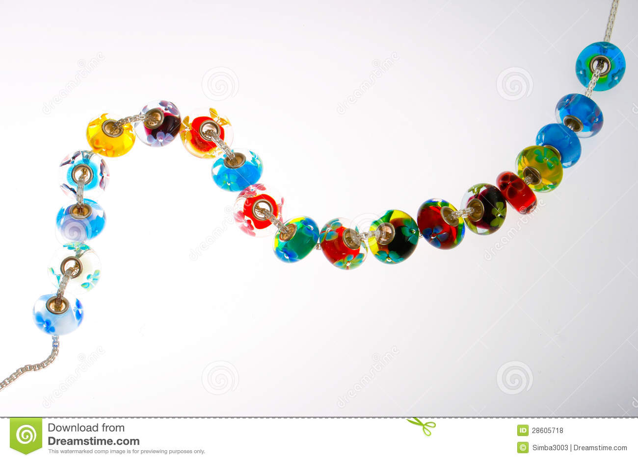 Glass Beads On String Royalty Free Stock Photos - Image: 28605718