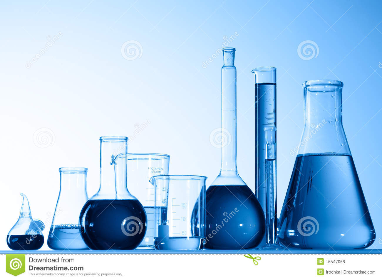 Glass Beakers With Blue Liquid Royalty Free Stock Photos ...