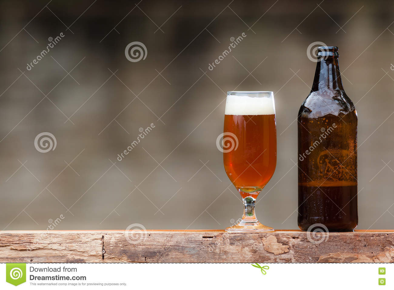 glass beer on wood - photo #38