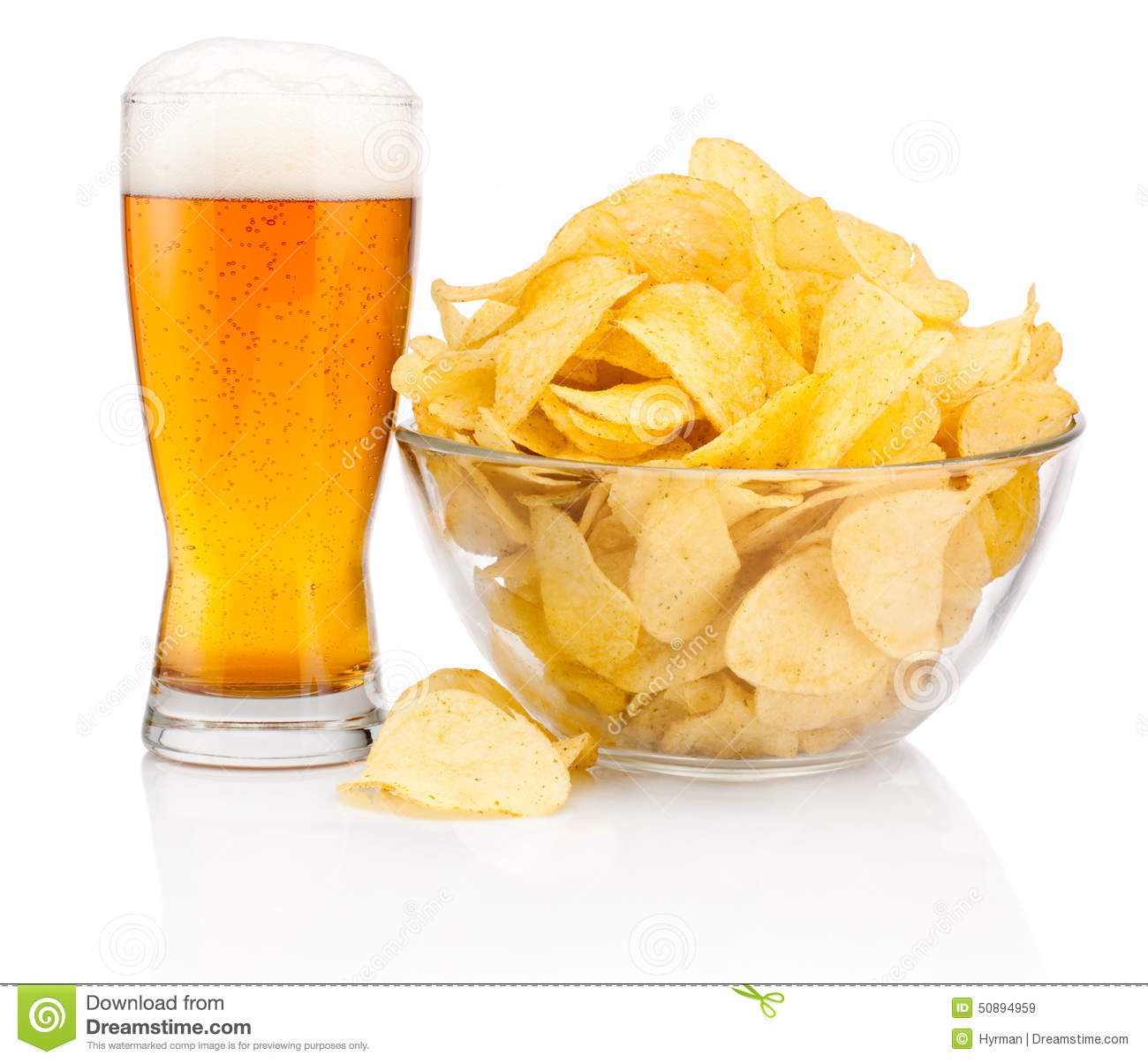 https://thumbs.dreamstime.com/z/glass-beer-potato-chips-glass-bowl-isolated-white-background-50894959.jpg