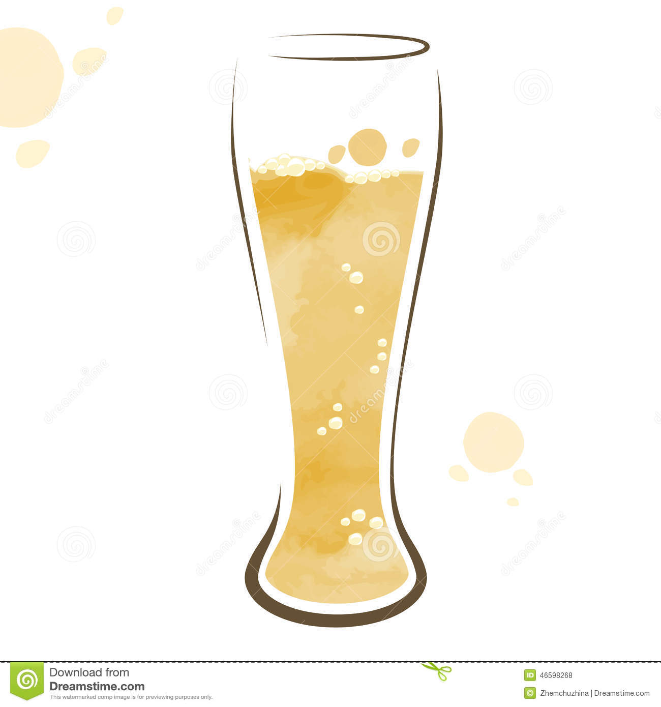 how to draw a beer glass