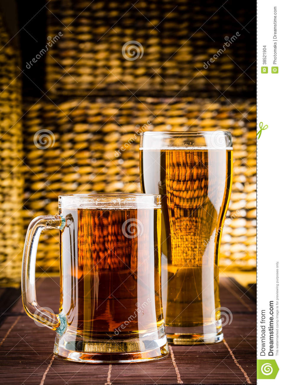glass beer on wood - photo #49