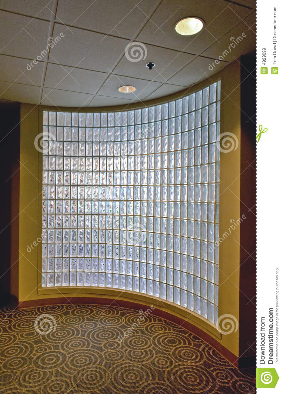 Glass Block Office Wall Stock Image Image Of Indoor