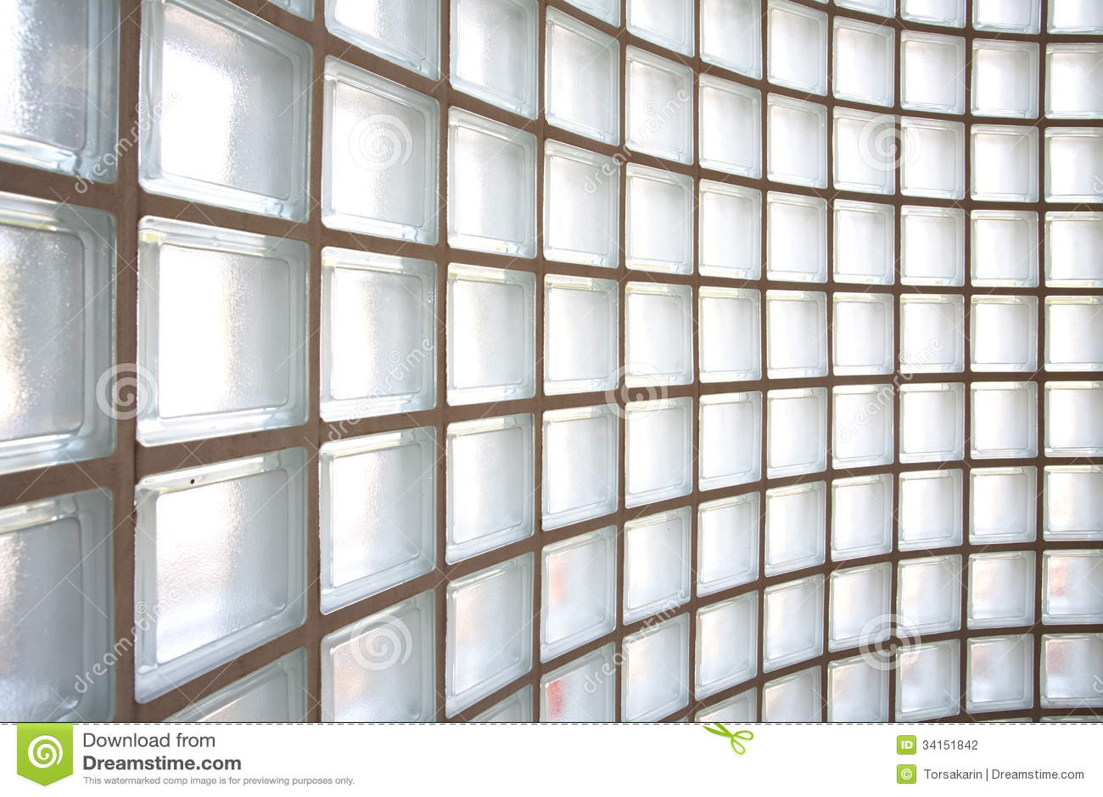Glazed Block Wall : Glass block wall background stock photo image