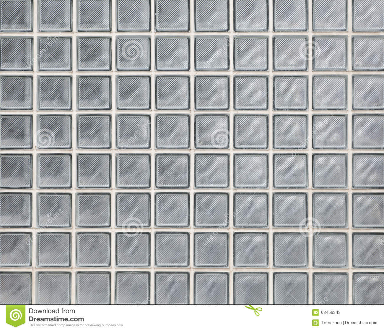 Glass Block Wall Texture And Background Stock Image