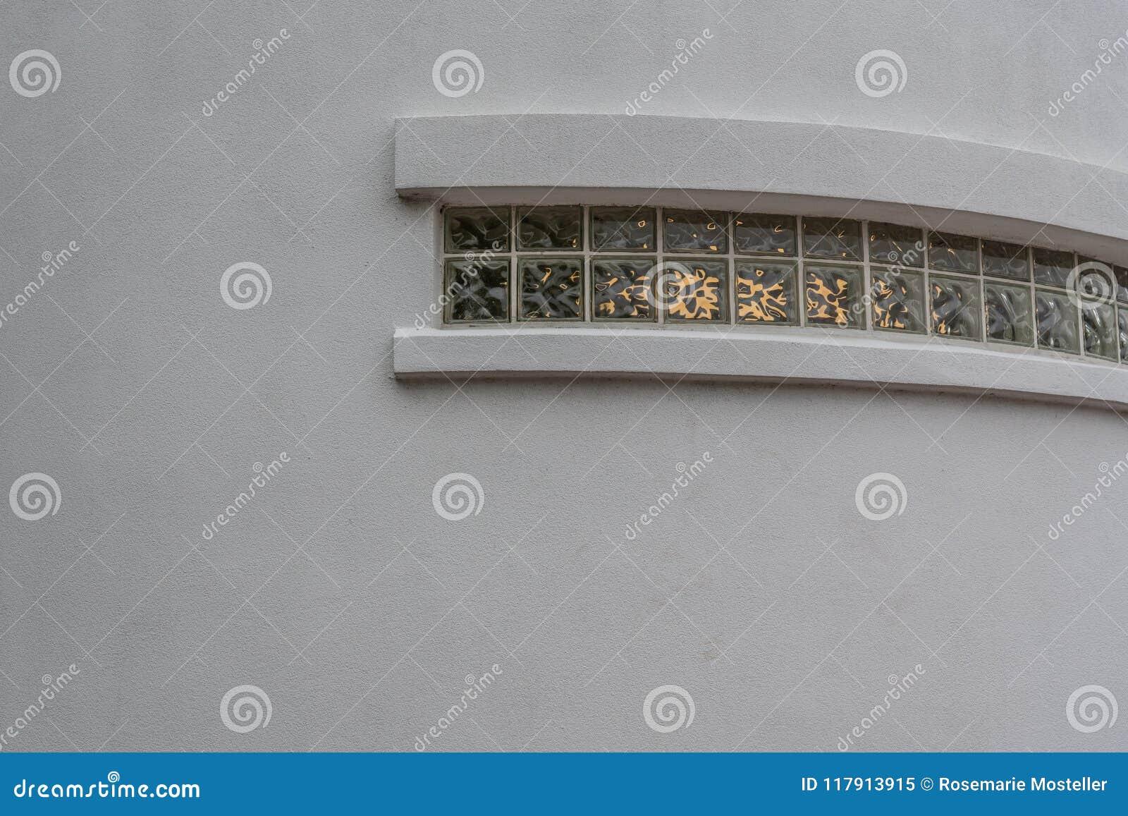 Glass block window architectural detail