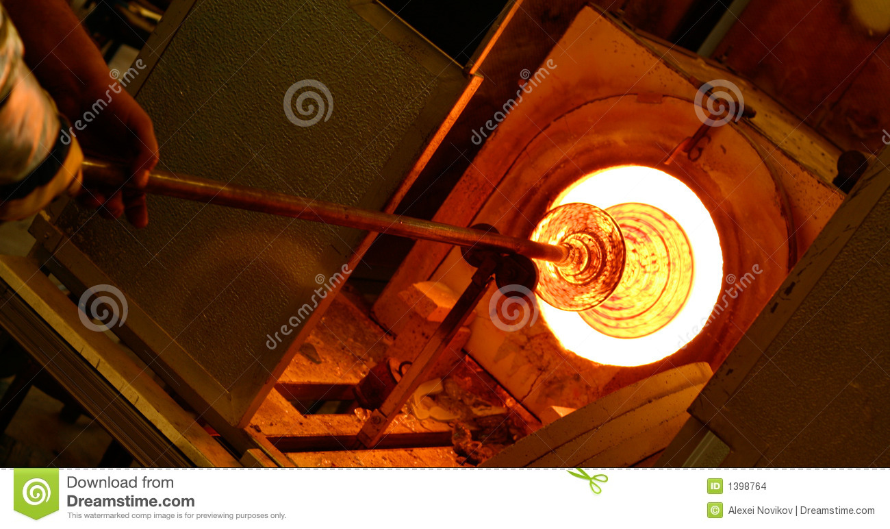 Glass Blowing Furnace Stock Images Image 1398764