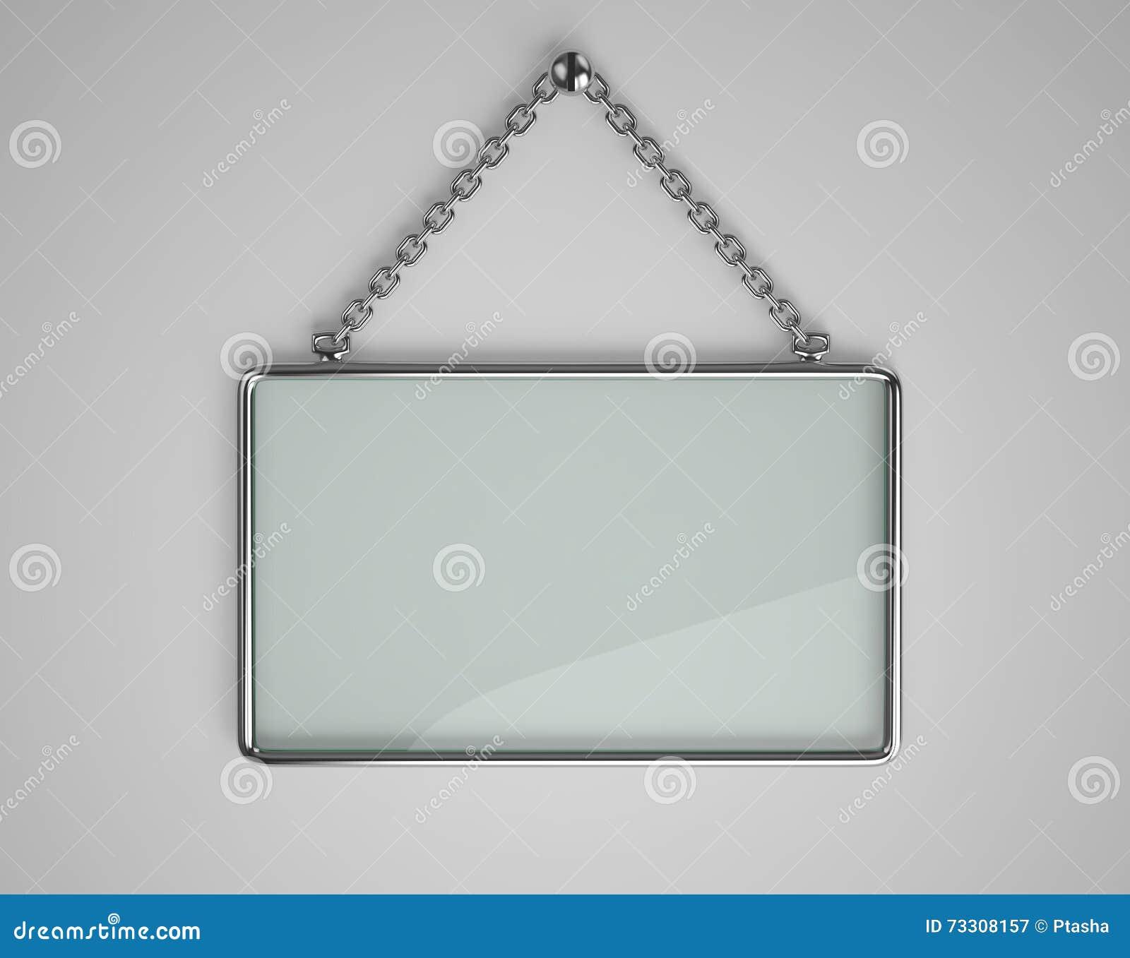 Glass Board With Metal Frame Stock Illustration - Illustration of ...