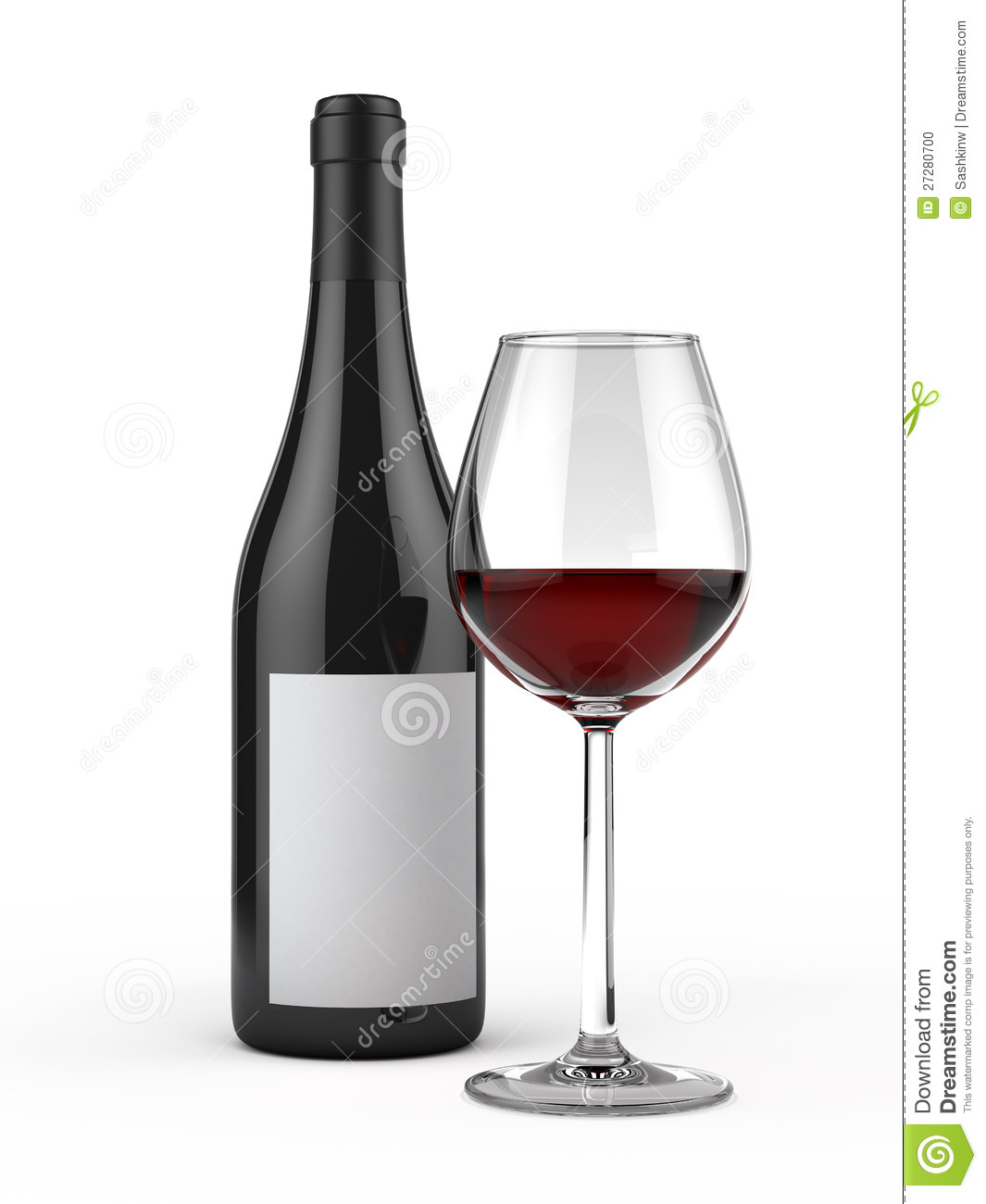 Glass and bottle of red wine stock photo image 27280700 for Wine bottle glass
