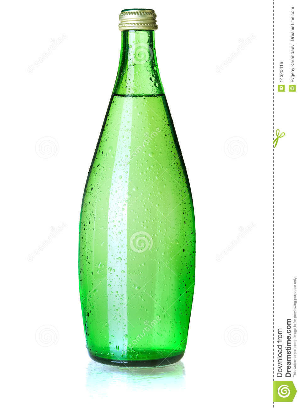 Glass Bottle Of Soda Water Royalty Free Stock Image - Image: 14320416