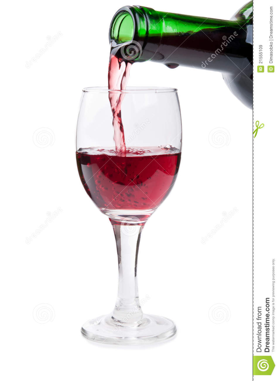 Glass and a bottle of wine royalty free stock images for Wine bottle glass