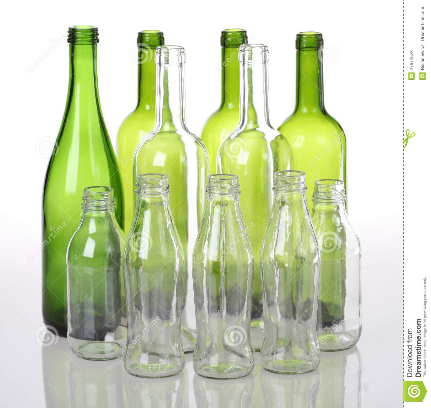 Glass bottles stock photo. Image of recycle, colour, drink ...