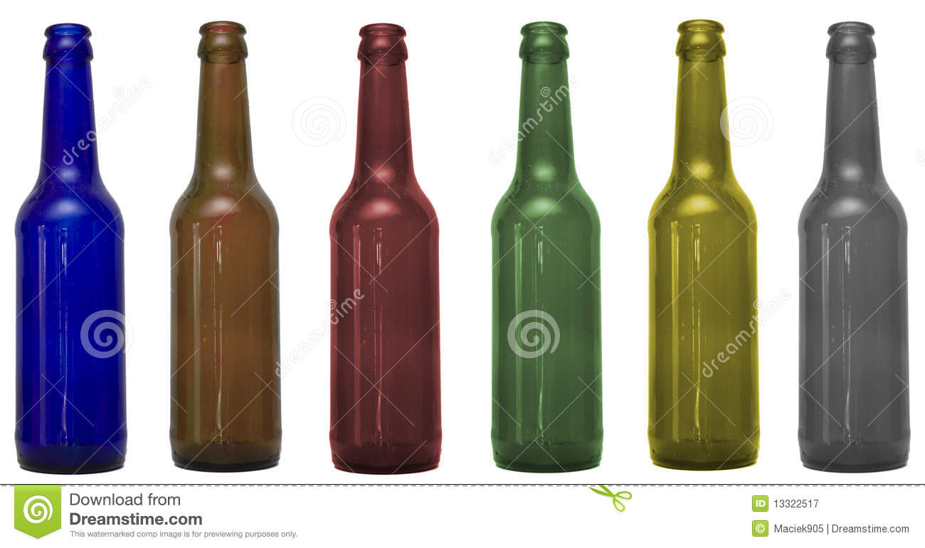 Glass bottles with clipping patch