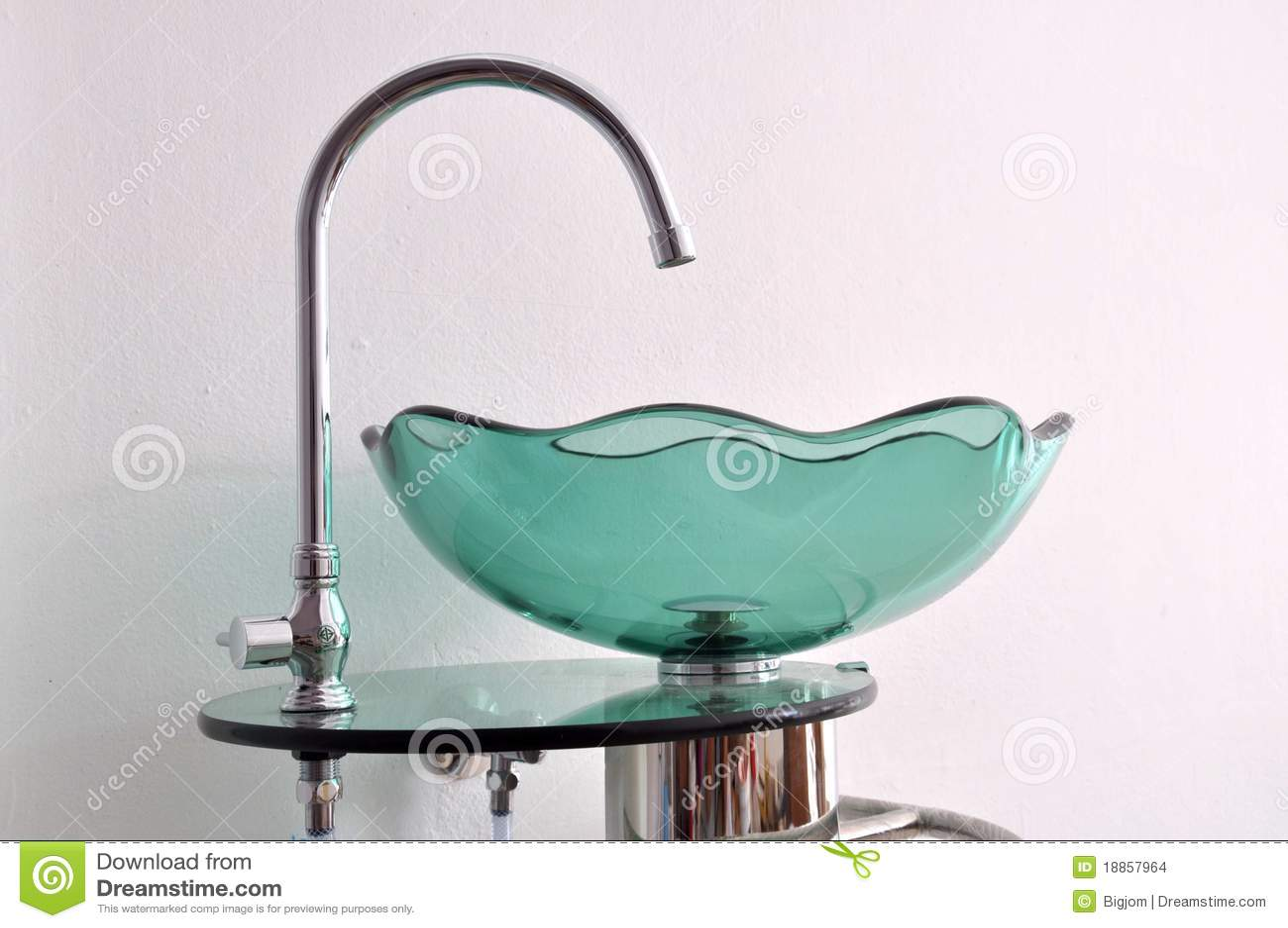 Glass Bowl Hand Wash Basin Stock Photo Image Of Design