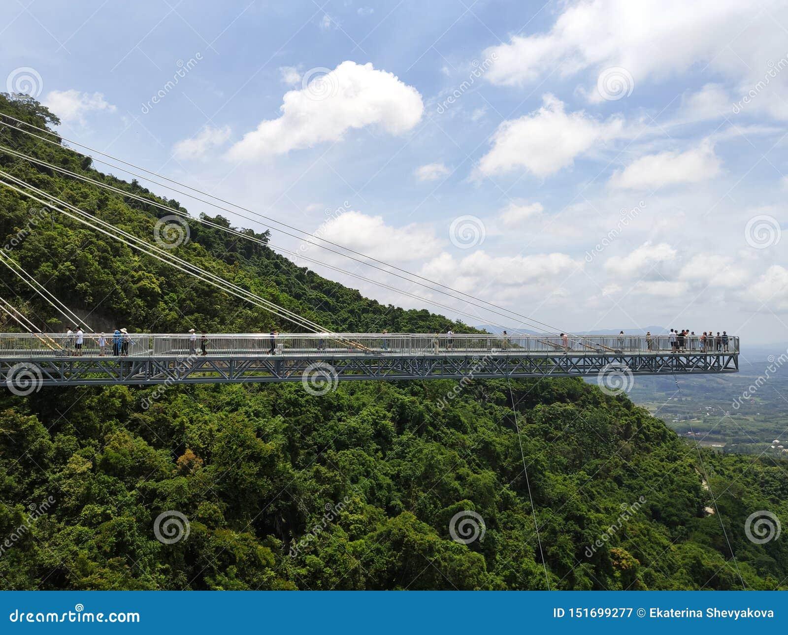 The Glass Bridge In The Yanoda Stock Image - Image of cliff