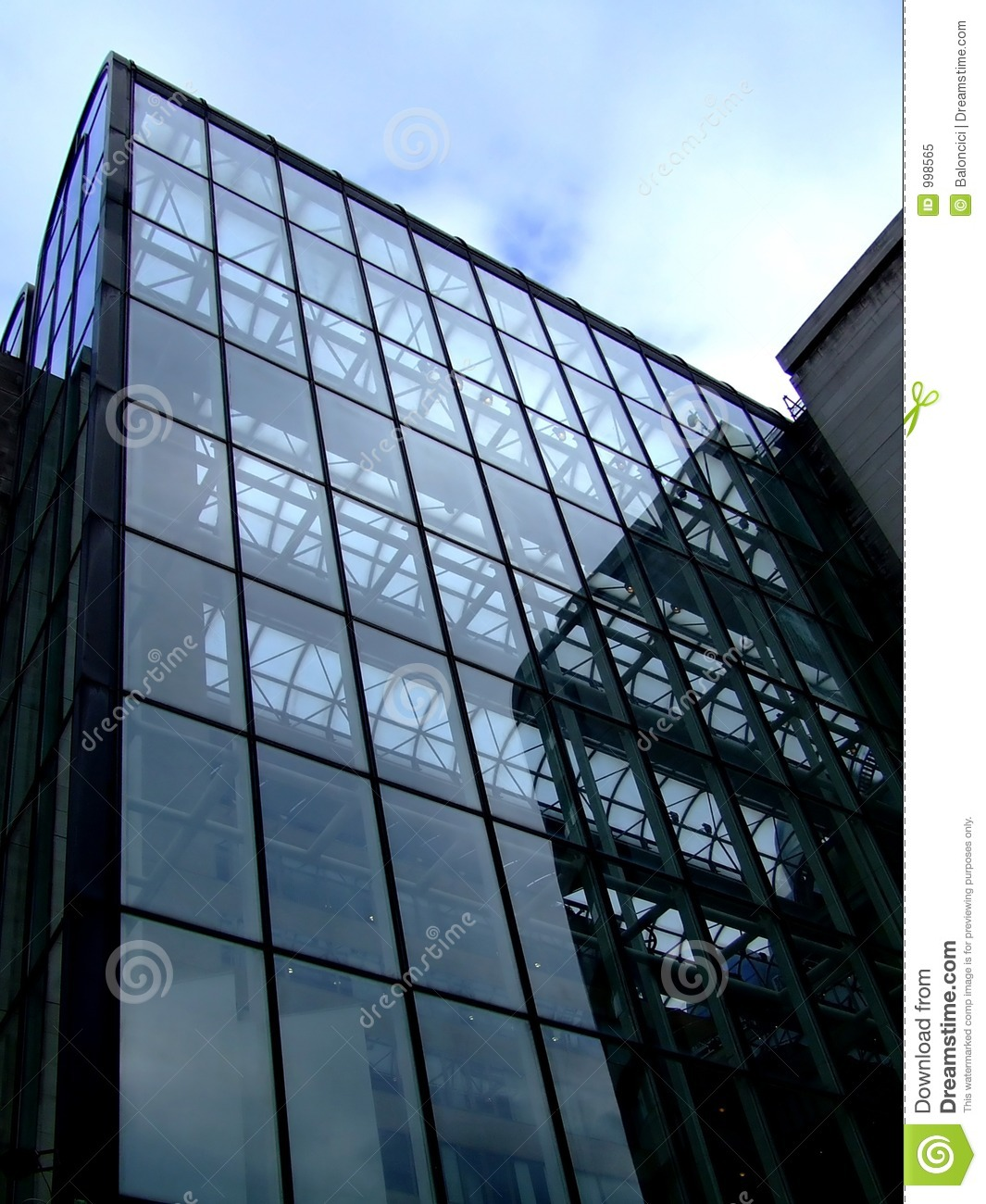 Glass Facade Of Office Building Royalty Free Stock Image: Glass Building Stock Image. Image Of Facade, Casement