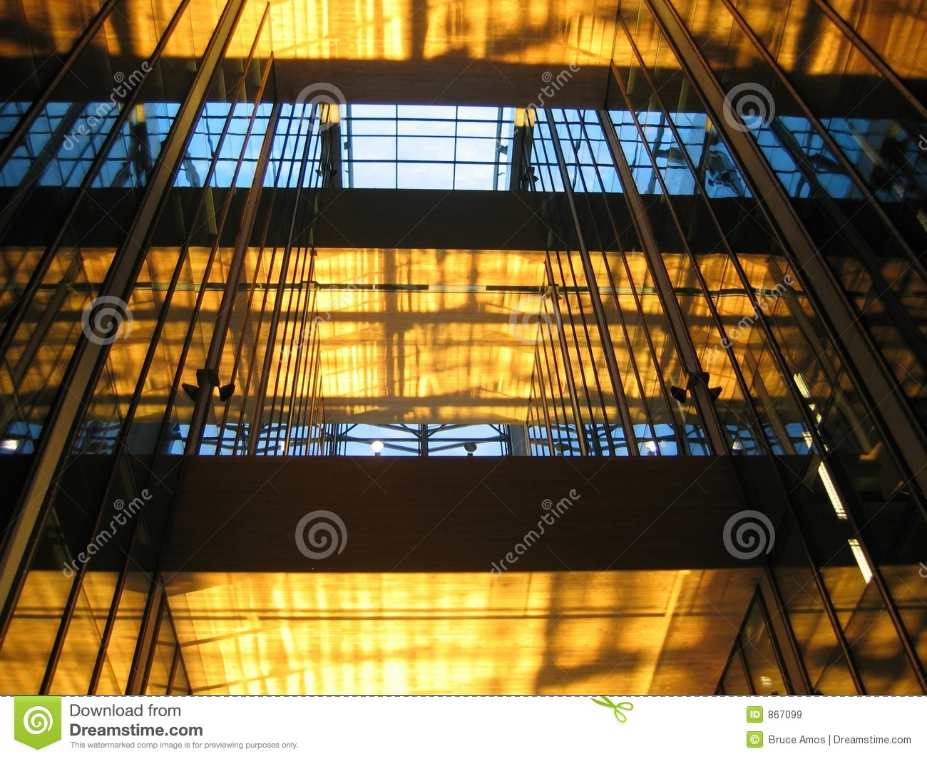 Glass Building Interior : Glass building interior royalty free stock images