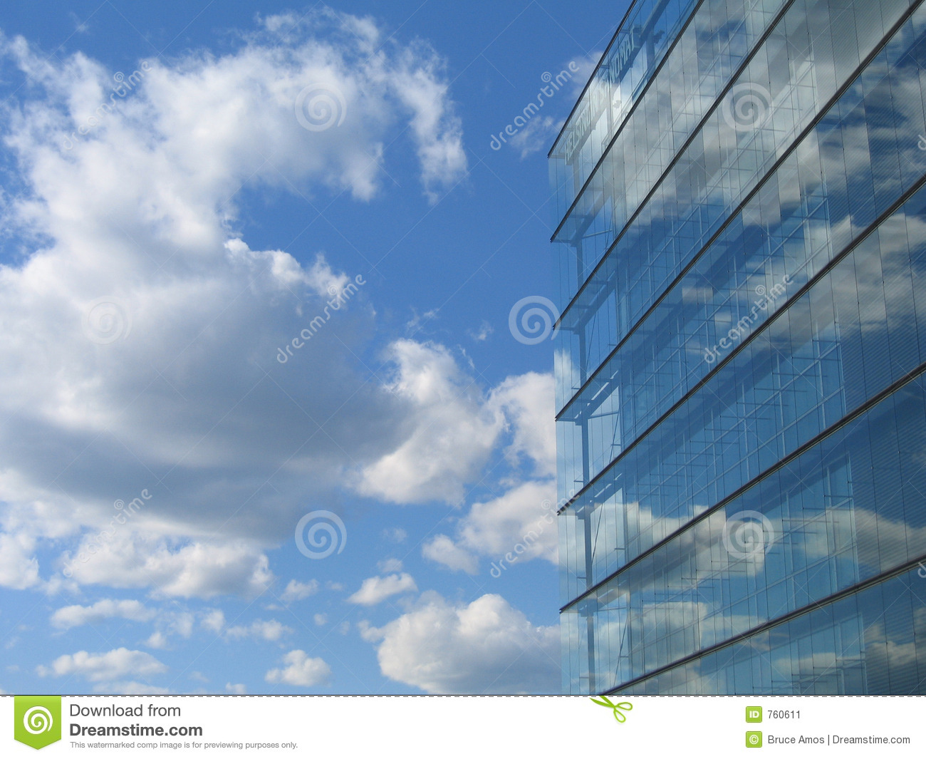 Glass Building reflection stock image. Image of building ...