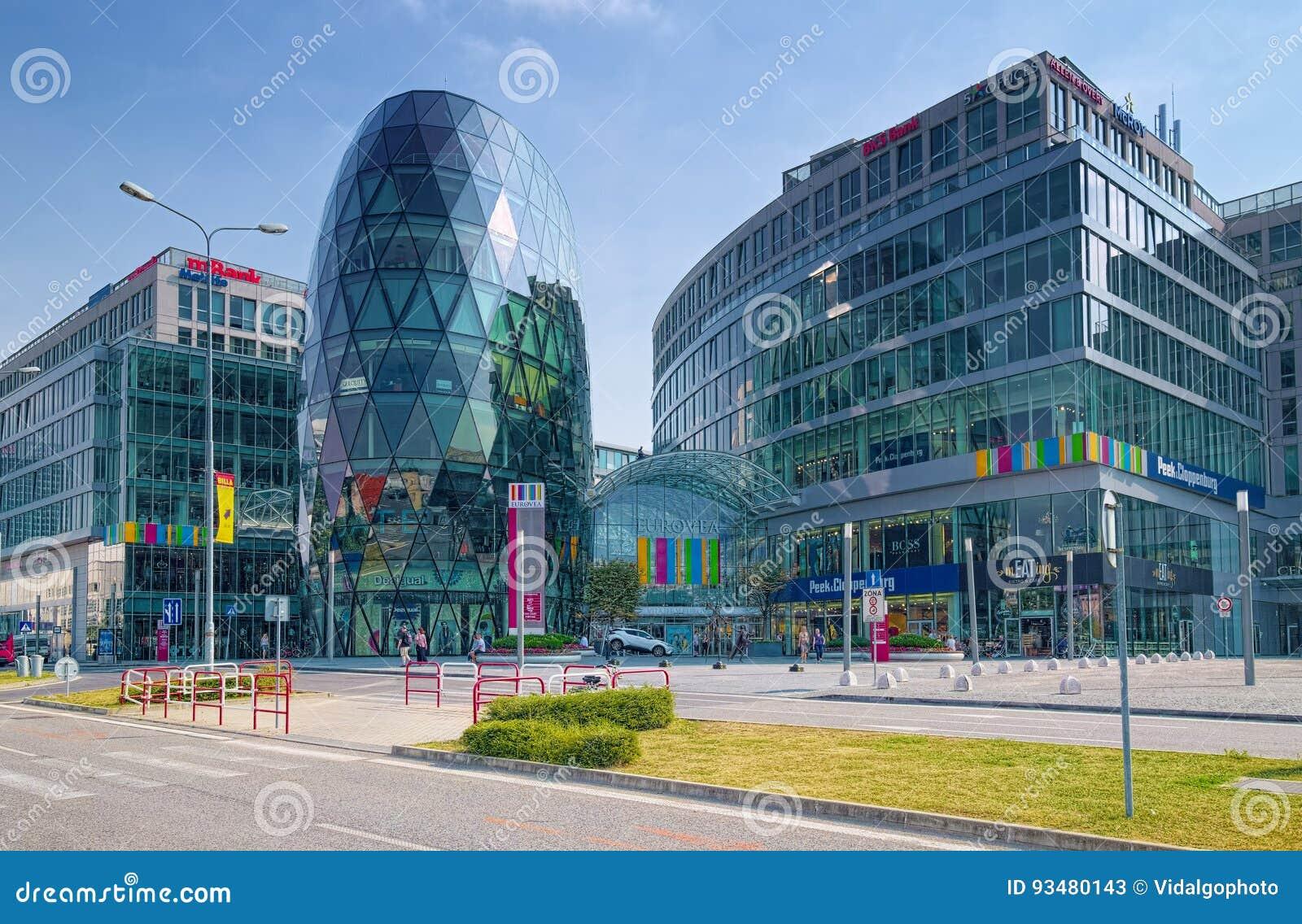 Glass Buildings Of Eurovea Mall In Bratislava 7dec99e51d3