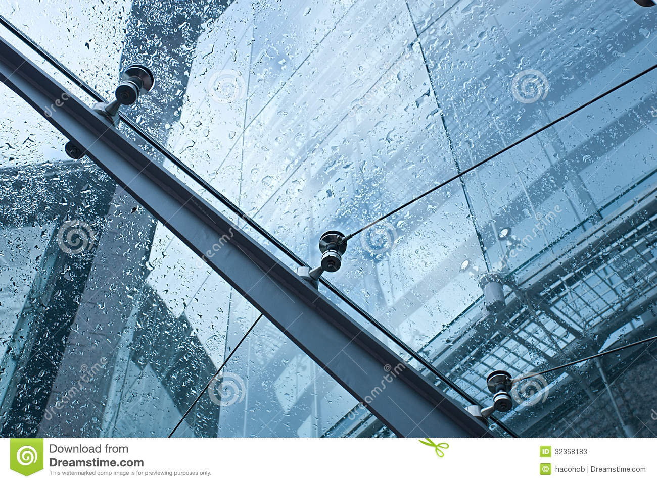 Glass Canopy Stock Image Image Of Metal Business Blue