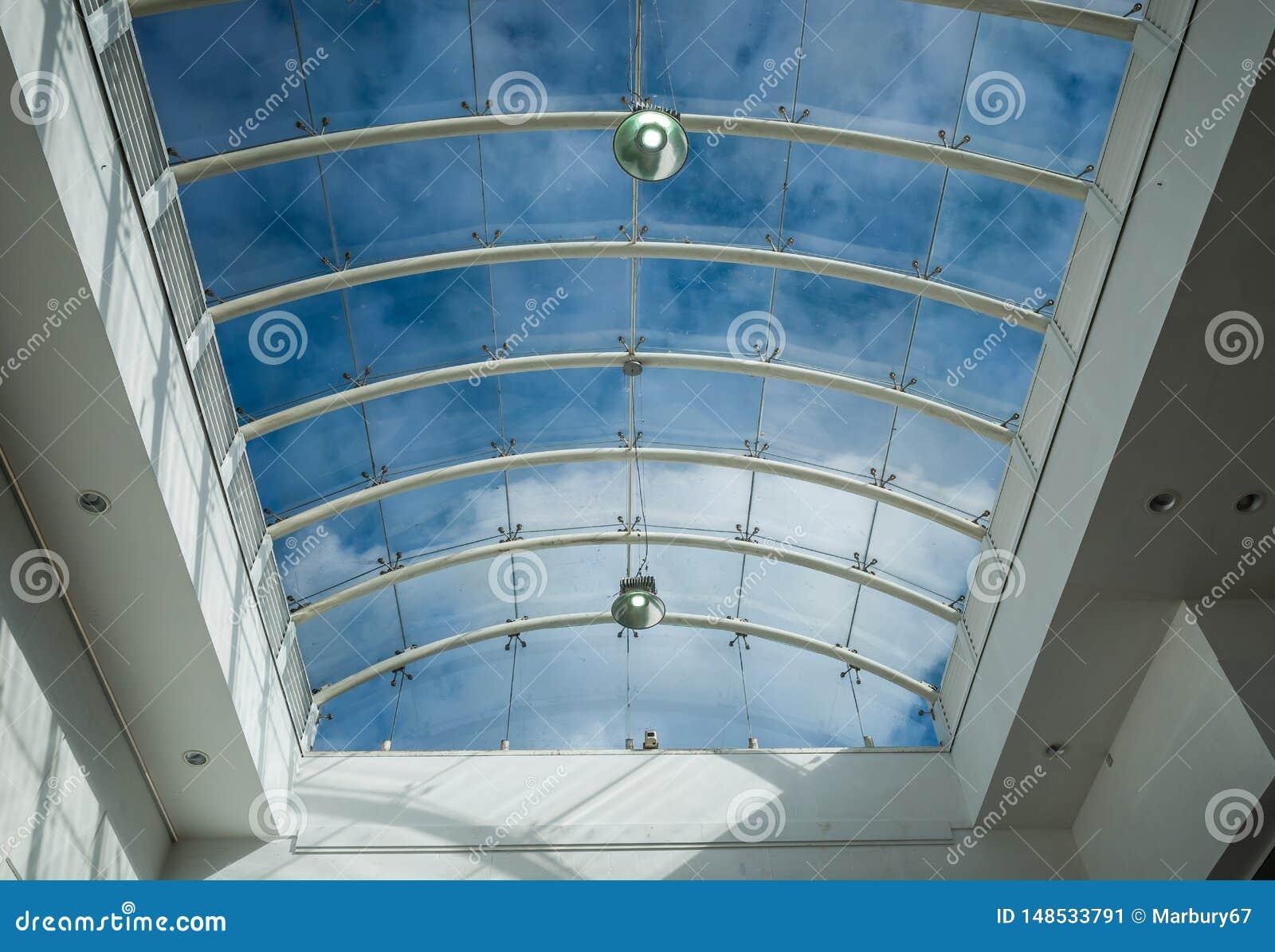 Glass Ceiling Skylight Stock Image Image Of Blue Design 148533791