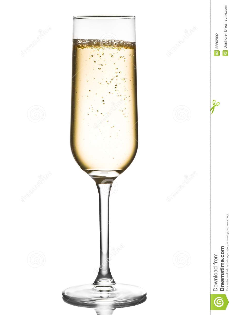 Glass Of Champagne With Bubbles Stock Photography Image