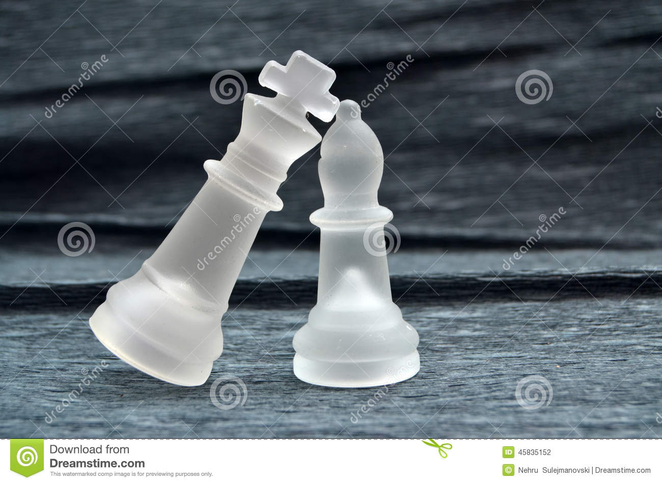 Glass Chess Pieces King And Queen Stock Photo Image Of Check