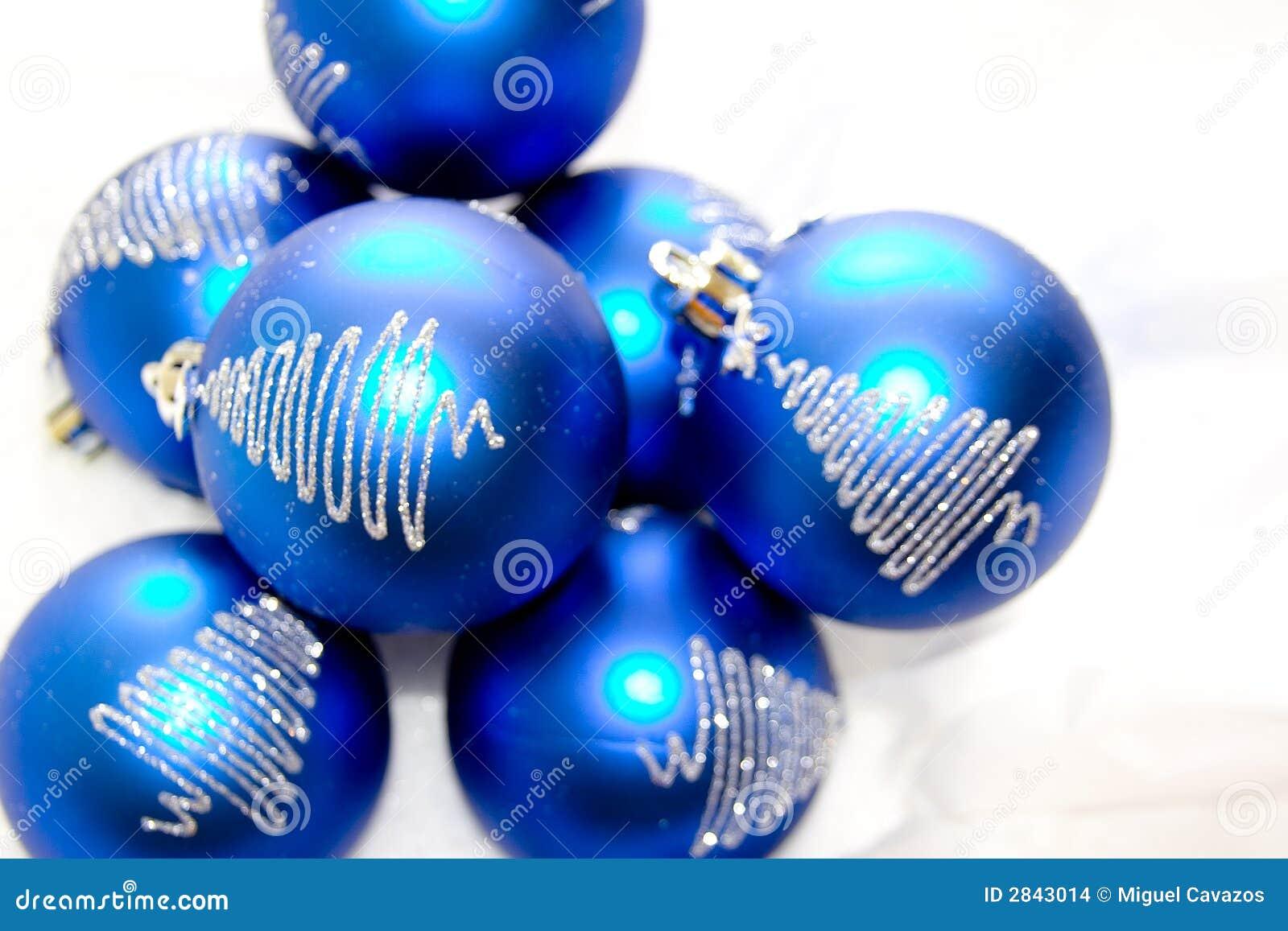 Glass xmas ornaments - Blue Christmas Glass Ornaments