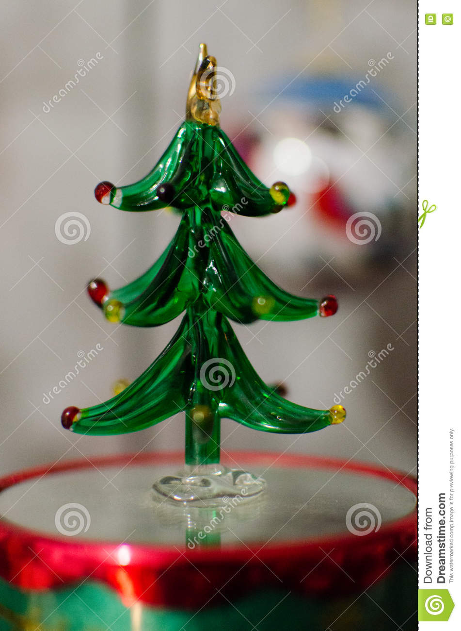 a glass christmas tree decoration