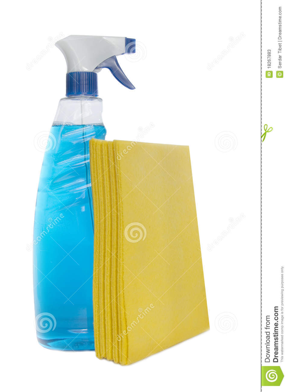 Glass cleaning kit stock photos image 18267883 for Glass cleaning towels