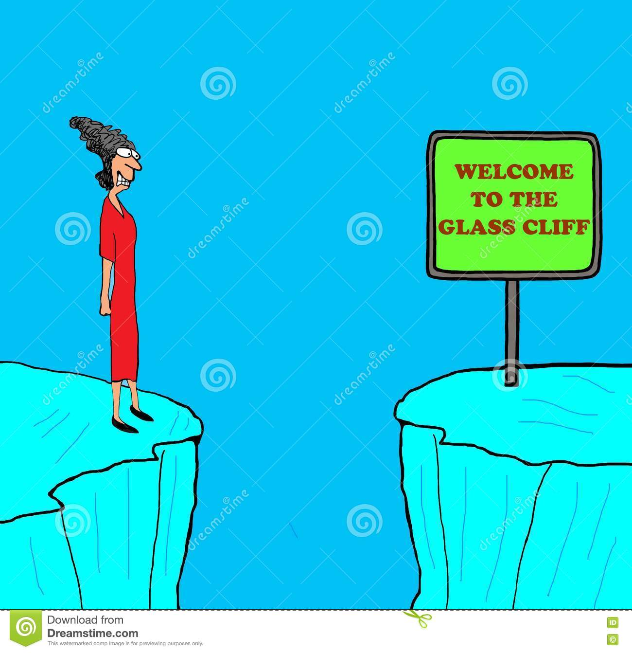 the glass cliff You ever heard of the glass cliff it's the phenomenon where women tend to be  put into positions of power and notoriety only after an.
