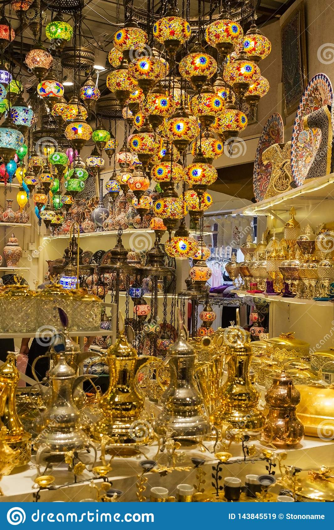 Glass, Colorful, Traditional, Decorative Turkish Lamps ...