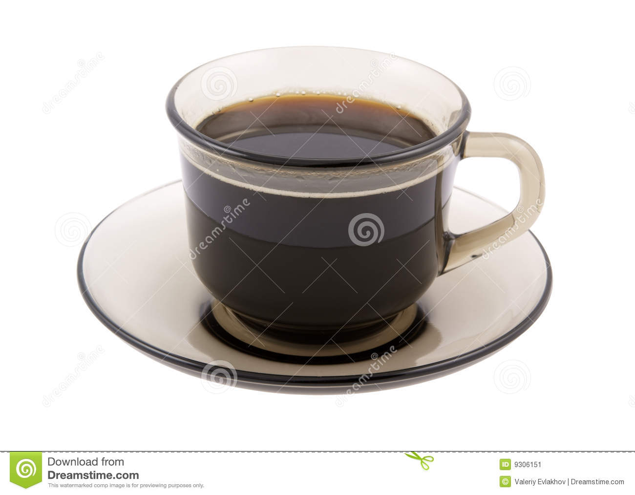 Glass Cup Of Black Coffee Isolated Stock Image Image