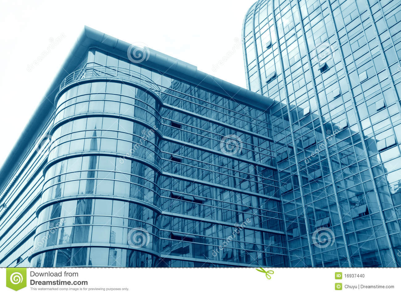 Glass Curtain Wall Building Stock Image