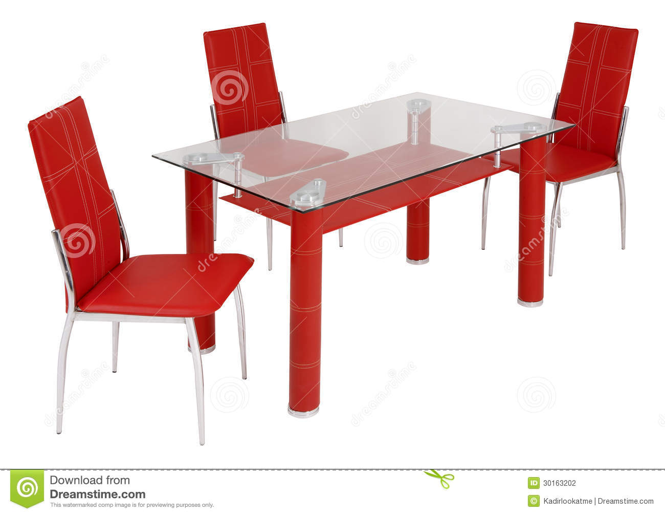 Glass Dining Table And Chairs Stock Photo Image Of Shelf Design 30163202
