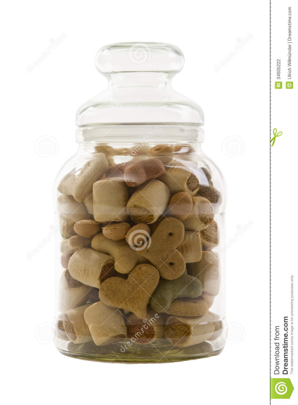 Glass jar filled with ... Homemade Dog Biscuits