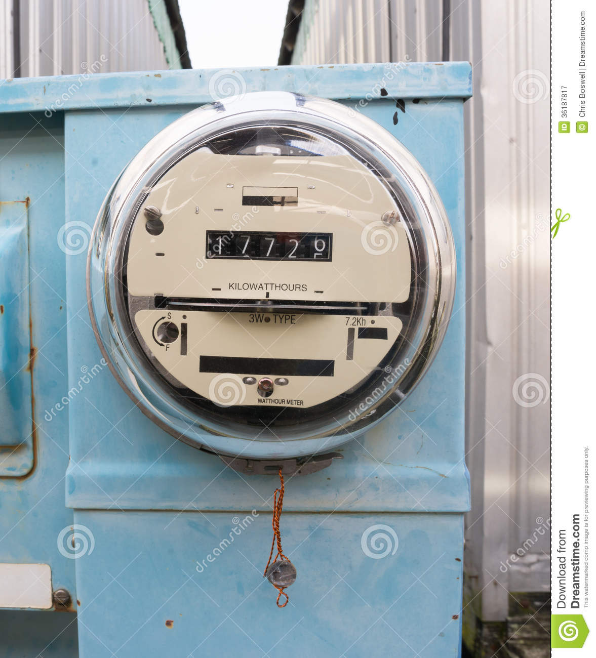 Utility Meter Analog : Glass dome watt hour electric utility meters dock outside