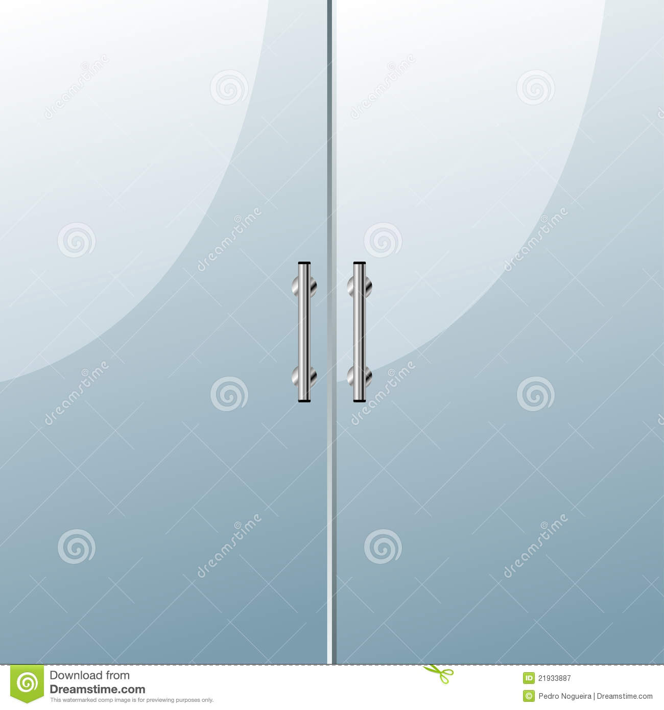 Glass Doors Clipart Door Royalty Free Stock Photography