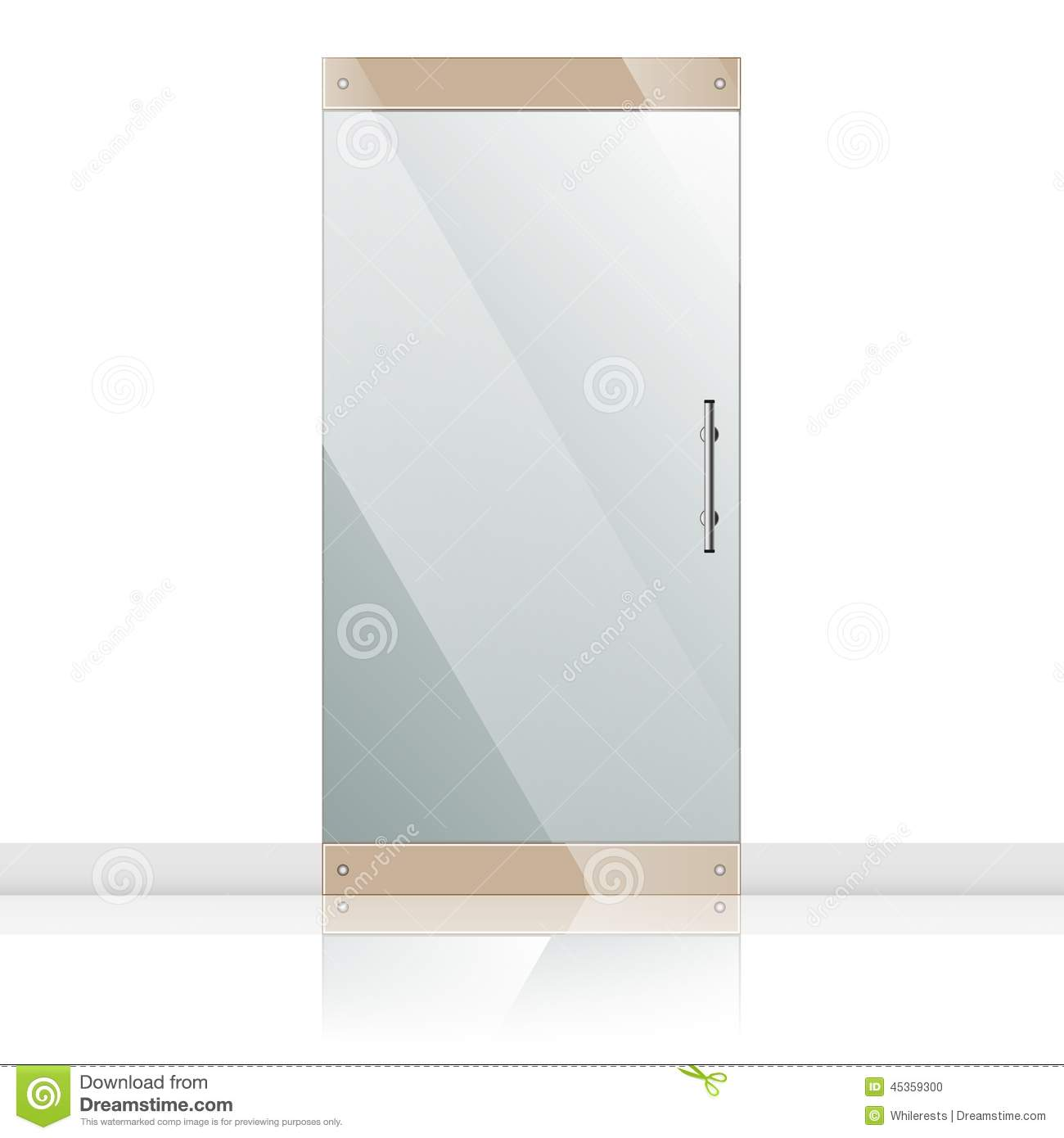 Merveilleux Glass Door With Chrome Silver Handles Set