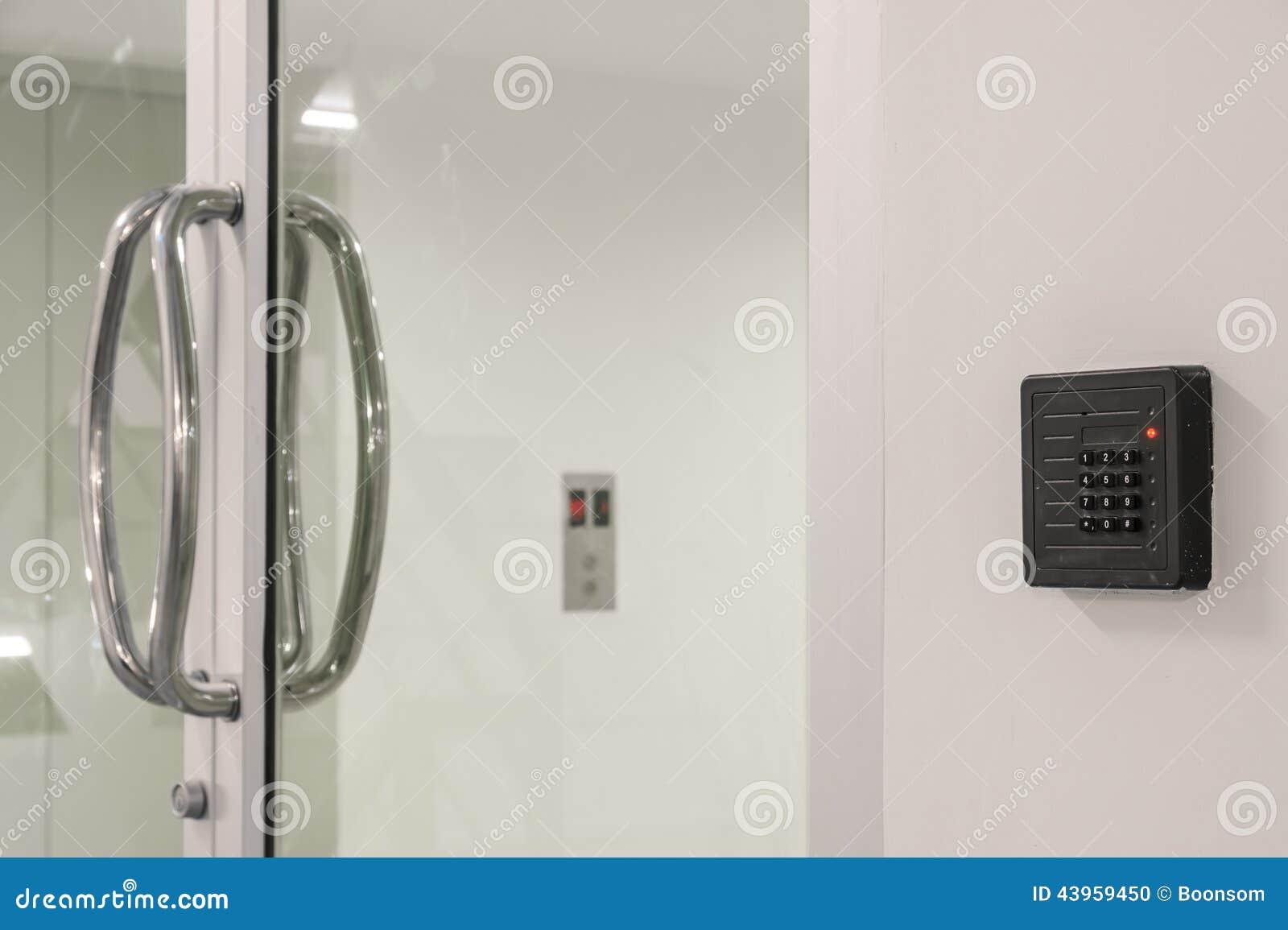 Glass Door With Keypad Stock Photo Image 43959450