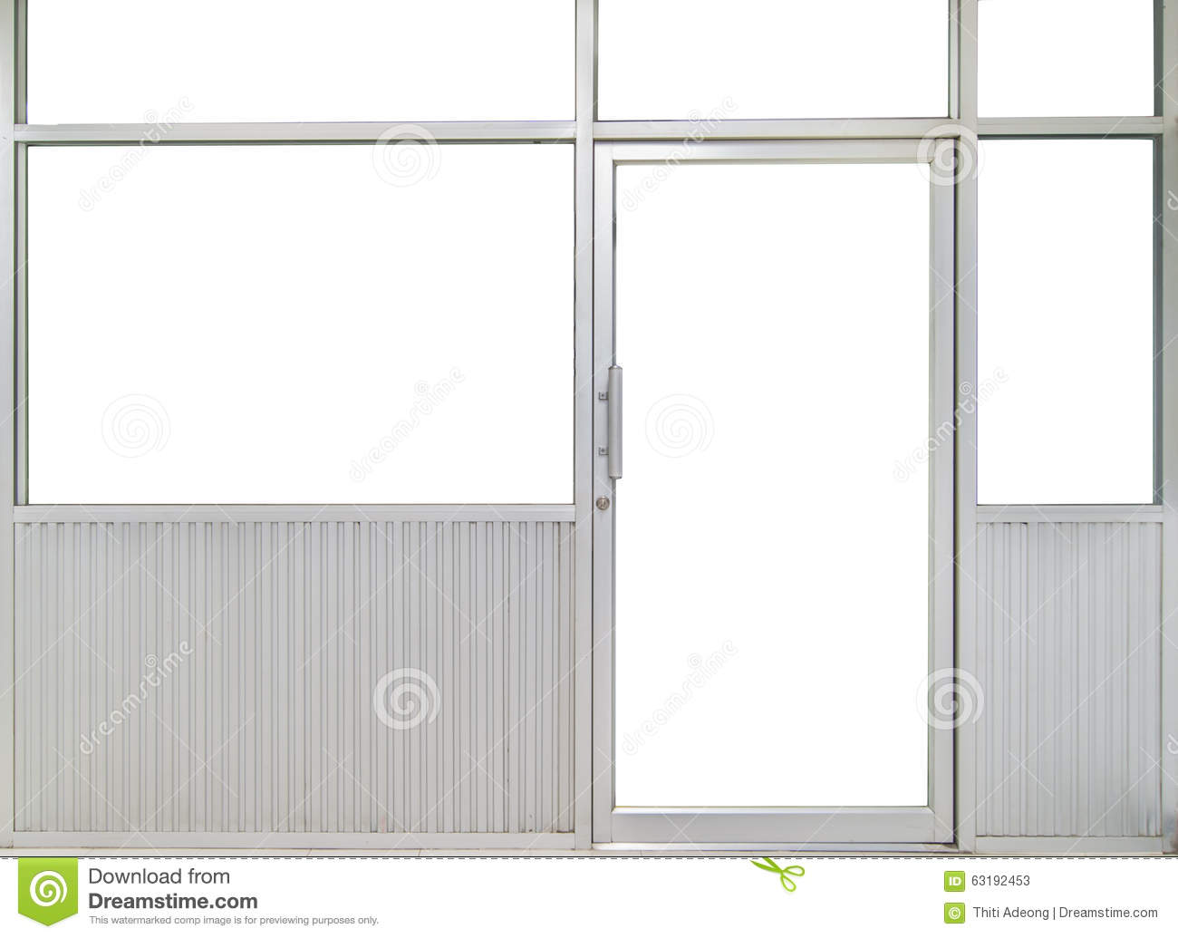 Glass door and window office room stock photo image for Office doors with windows