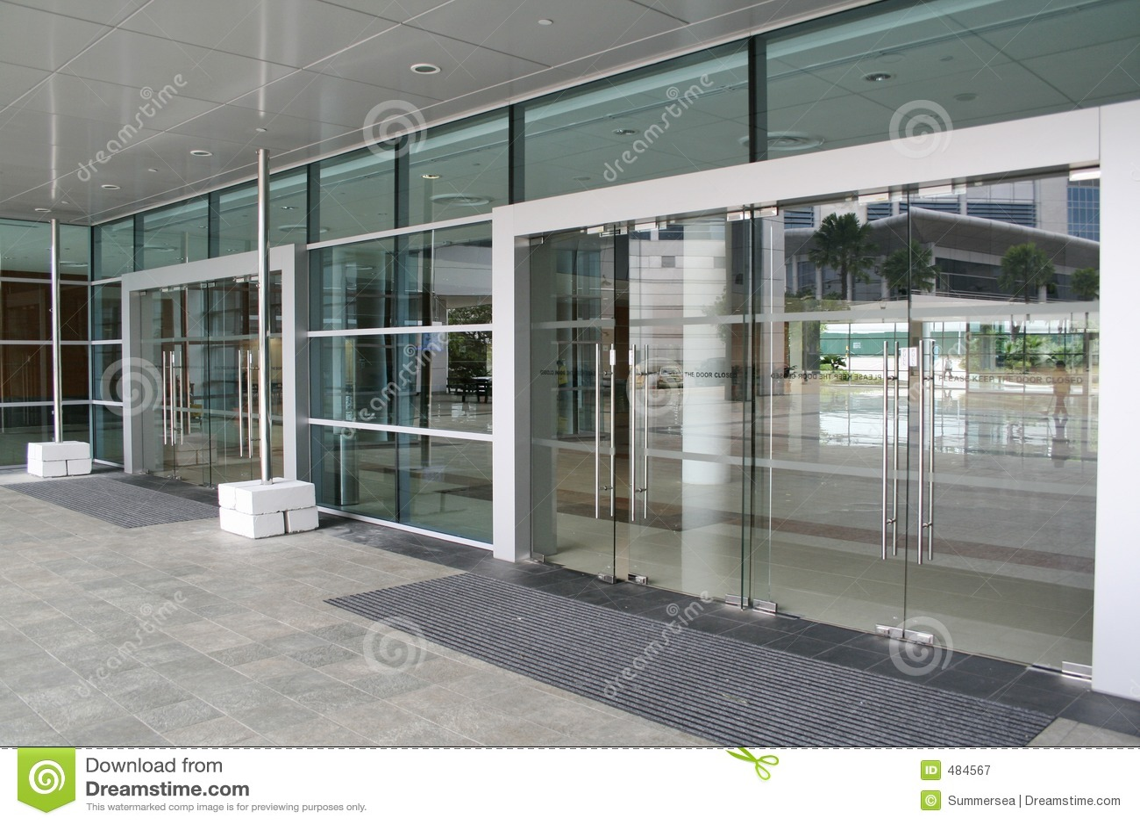 Glass Doors Stock Image Image Of Exit Metal Building